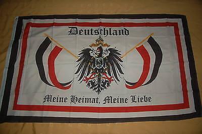 Deutschland Meine Heimat, Meine Liebe Fahne Flagge Hißflagge 150 x 90 cm
