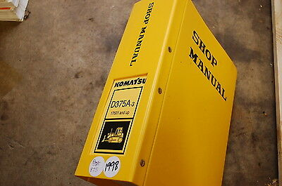 Komatsu D375a 3 Tractor Dozer Crawler Service Repair Manual Book Shop Overhaul