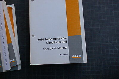 Case 6010 Turbo Horizontal Directional Drill Machine Operator Maintenance Manual