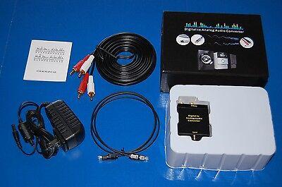 Digital Optical Coax to Analog RCA Audio Converter Amplifier