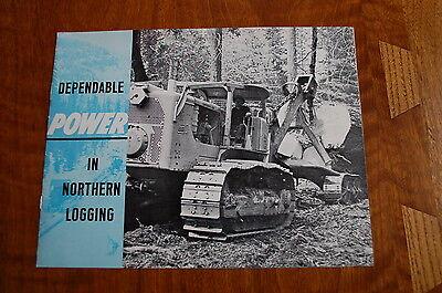 Caterpillar 955 977 Loader Crawler Skidder Logging Sales Brochure Vintage Rare