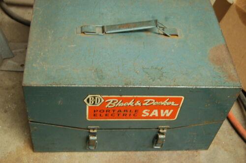 "Vintage Black & Decker 6"" Heavy Duty Portable Electric Saw"