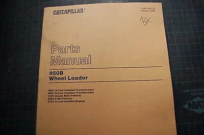 Cat Caterpillar 950b Wheel Loader Parts Manual Book Pay Rubber Tire 1988 Spare