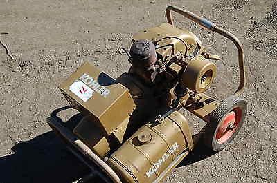 Vintage Kohler 8hp Gas 3kw Generator 4-120 Volt Outlets K181ep 3000 Watts 3mm25