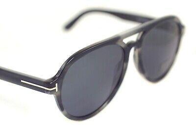 Tom Ford Rory 2 0596 20A Herren Groß Rund Kunststoff Aviator Sonnenbrille Grau