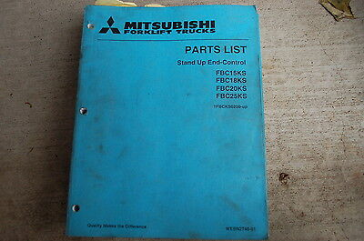 Mitsubishi Fbc15ks Fbc18ks Fbc20ks Fbc25ks Forklift Parts Manual Book Catalog