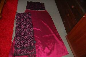 Ladies  Long Evening Skirt Matching Corset Top, Matching Shawl size 18 Zeehan West Coast Area Preview