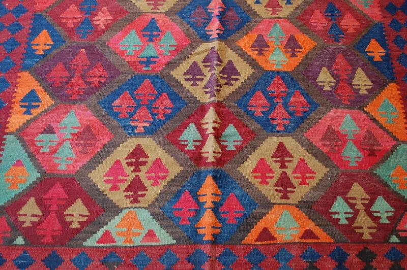 C1920s Antique Detailed Fine Caucasian Kilim 4.7x13.7 High Kpsi_natural Dye