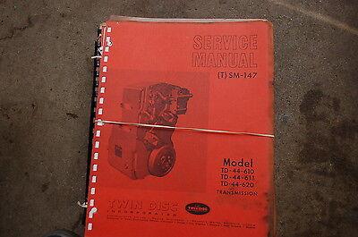 Twin Disc Td 44 610 611 620 Transmission Repair Service Manual Shop Overhaul 147