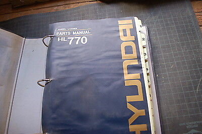 Hyundai Hl770 Front End Wheel Loader Parts Manual Book Catalog List Spare Used