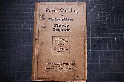 Cat Caterpillar Thirty 30 Tractor Dozer Crawler Part Manual Book List Vintage
