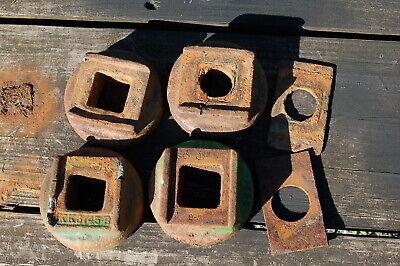 4 Total John Deere Kk3745b 1-18inch Square Shaft Disc Harrow End Washers Rwa
