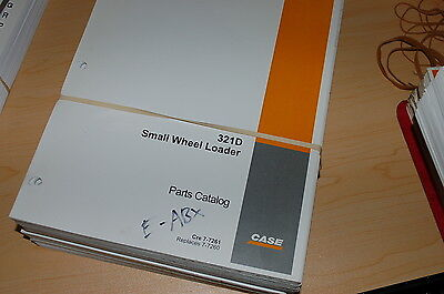 Case 321d Small Wheel Loader Spare Parts Manual Book Catalog Front End List 2002