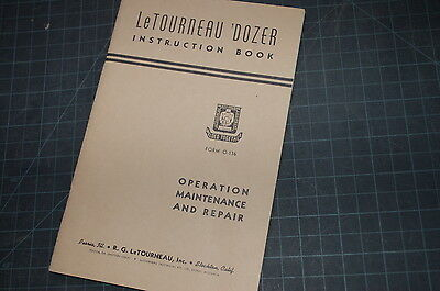 Letourneau Dozer Owner Operator Operation Maintenance Manual Book Guide Tractor