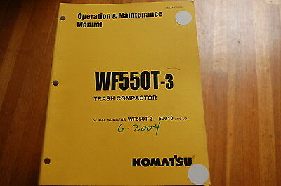 Komatsu Wf550t-3 Trash Compactor Owner Operator Operation Maintenance Manual