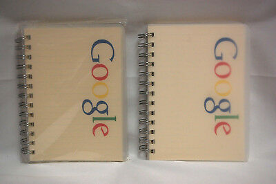Google Logo Multi-color Small Spiral Paper Notebooks Lined New Lot Of 2 S8405