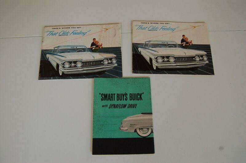 Group of 2 1959 Oldsmobile Automobile Promo Brochures + Dynaflow Driving Bonus