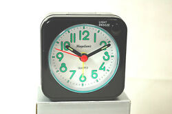 Magellan's MINI-TIME ULTRA COMPACT ANALOG TRAVEL ALARM CLOCK (NIB) (#S8622)