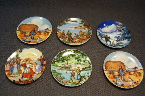 6PC American Portraits Miniature Collectors Plate Avon 1985