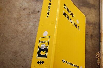 Komatsu D355a 5 Tractor Dozer Crawler Service Repair Manual Book Shop Overhaul