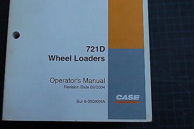 Case 721d Front End Wheel Loader Owner Operator Maintenance Manual Book Use 2004