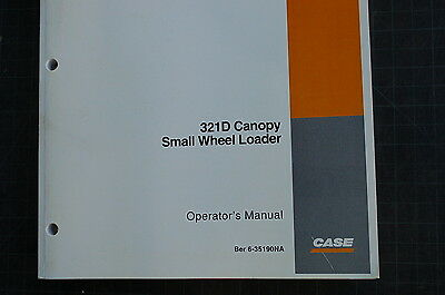 Case 321d Small Front End Wheel Loader Owner Operator Maintenance Manual Book