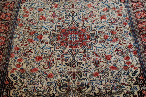 C1930s Antique Exclusive Fine Persian Bijar Rug 4.9x6.10 Highly Detailed_beauty