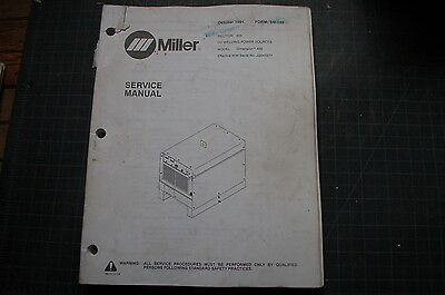Miller Welder Dimension 400 Generator Owner Service Repair Manual Book Owner Tig
