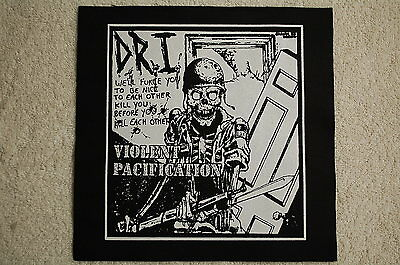 D.R.I. Back Patch (BP140) Rock Thrash Metal DRI S.O.D. Anthrax Slayer Metallica