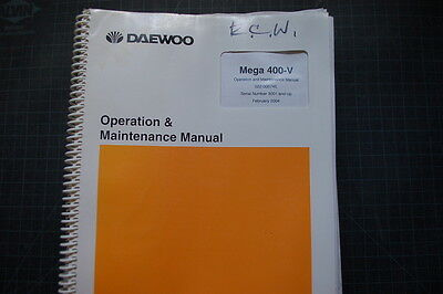 Daewoo 400-v Front End Wheel Loader Operationoperator Maintenance Manual Book