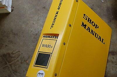 Komatsu Wa30-5 Front End Wheel Loader Service Repair Manual Book Shop Overhaul