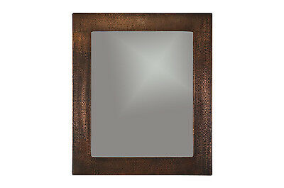 36 H x 31 W Hand Hammered Copper Mirror, Wall, Rectangle, Tr