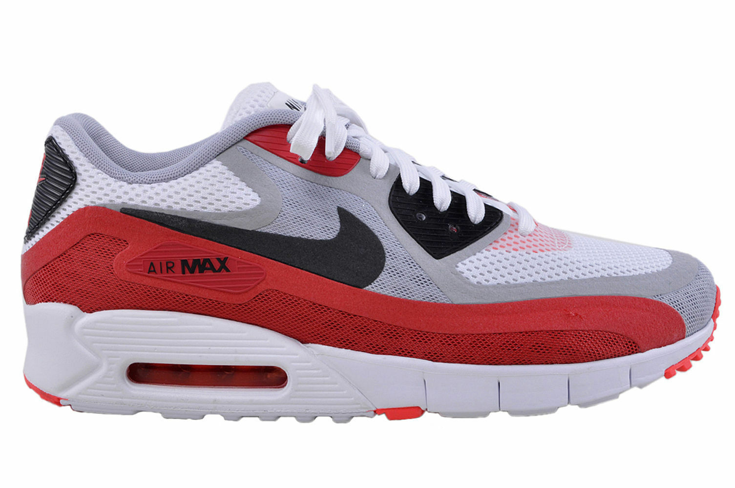 nike air max 90 essential white red blue mens trainers