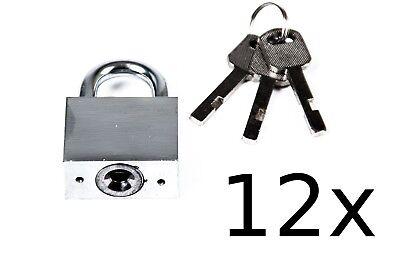 12x TAS Candado Acero 40mm Candado Cerradura de Seguridad