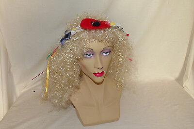 KarnevalsTeufel Haarband mit Blumen bunt Bänder Diadem Schmuck (Bunte Kostüm Schmuck)