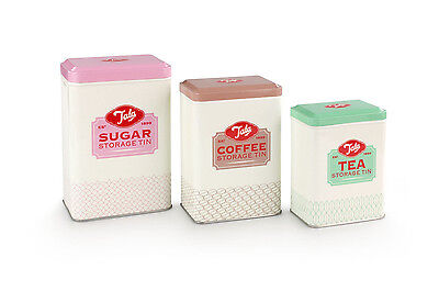 Tala Vintage Style Set of 3 Tea, Coffee and Sugar Canisters BLACK FRIDAY