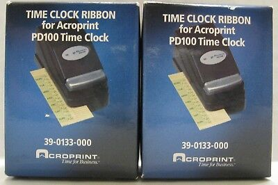 2 Of Acroprint 39-0133-000 Time Clock Ribbons For Acroprint Pd100 Time Clock New