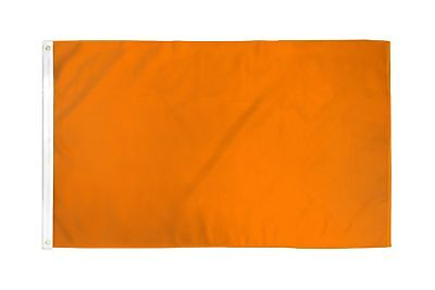 2x3 Orange Solid Color 210D 2'x3' Knitted Poly Nylon DuraFlag Banner (FI)