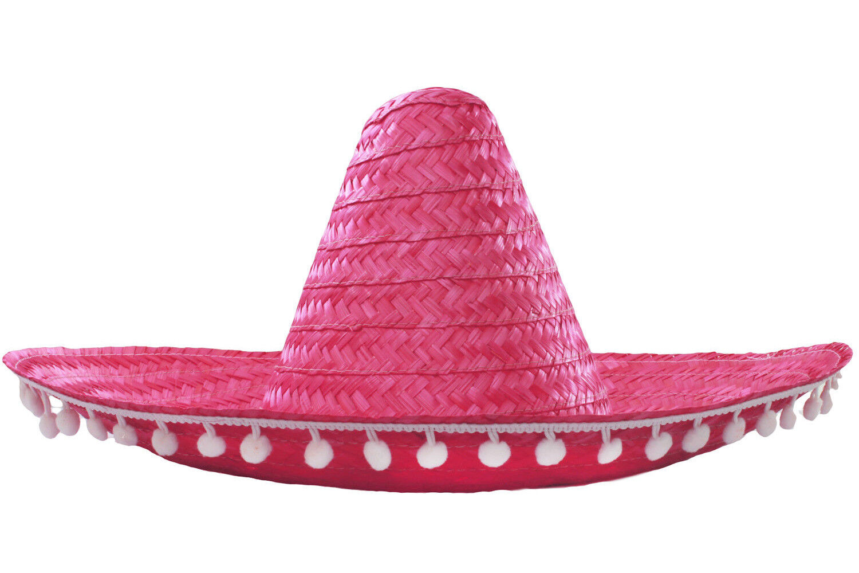 MEXICAN SOMBRERO HAT NO POM POMS WILD WESTERN FANCY DRESS COSTUME ACCESSORY