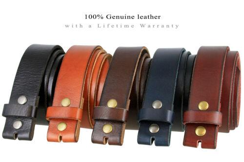 "Bs040 One Piece Full Grain Genuine Leather Casual Jean Belt Strap 1-1/2"" Wide"