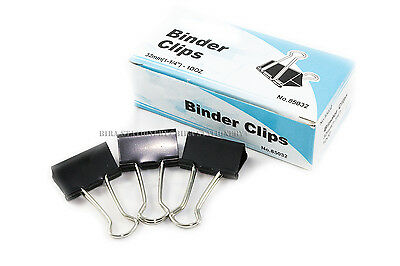 New 36 Pcs 32mm 1-14 Binder Clips Small Size Metal Paper Binding Office 3 Doz