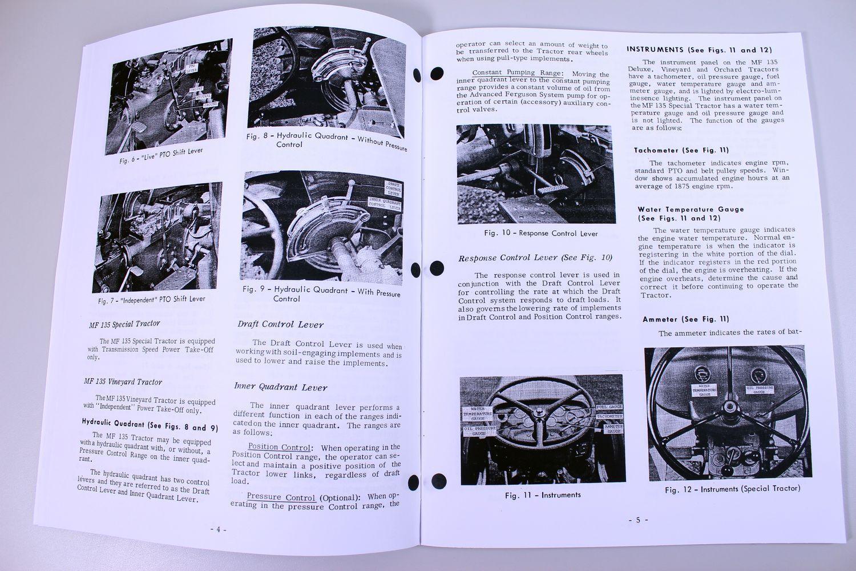4 of 11 Massey Ferguson Mf 135 Tractor Service Owners Operators Manual Book Repair  Mf135
