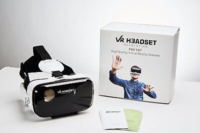 VR Headset Revolution 3D Virtual Reality Glasses Goggles w/ Built-In Headphones
