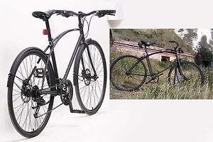 New City bike, Chromoly matte black SRAM 24 speed Hydraulic disc Fitzroy Yarra Area Preview