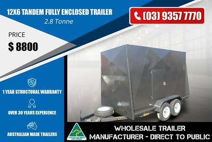Grey colour Fully Enclosed Trailer 2.8 Tonne - 12x6 Epping Whittlesea Area Preview