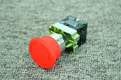 22mm Contact Twist Reset Bs545 1 Nc 1 No Emergency Stop Button Switch Xb2-bs545