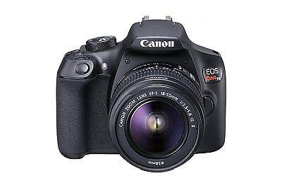 New Canon EOS Rebel T6 18MP Digital SLR Camera with EF-S 18-55mm Lens, Black