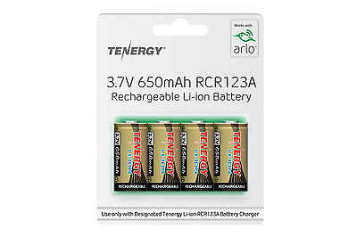 4 Pk Tenergy 3 7V 650Mah Rcr123a Li Ion Rechargeable Batteries For Arlo Camera