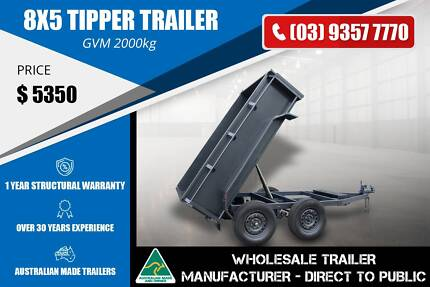 8x5 - Tipper Trailer - GVM 2000kg Epping Whittlesea Area Preview