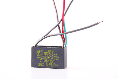 New 5 Wire 4uf+4uf+2.5uf Start Run Ceiling Fan Capacitor 250V/300V CBB61